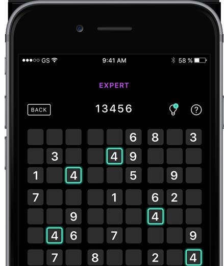 darktheme Sudoku Master Edition sudoku