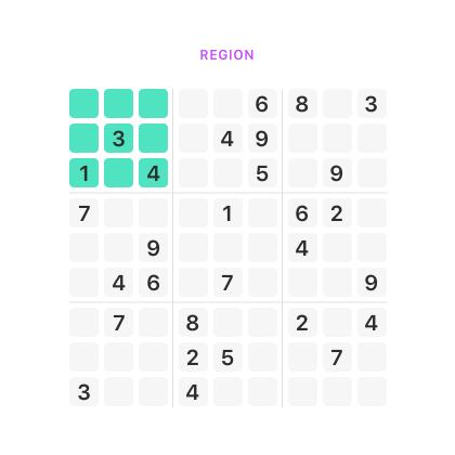 sudoku region Sudoku Solve It sudoku